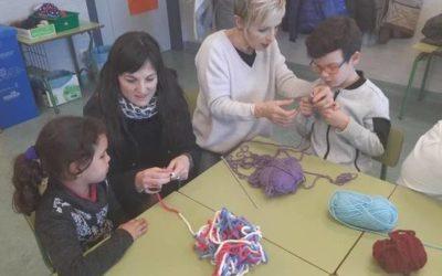 El Colegio Público de Barásoain, pionero en implantar la 'lanaterapia'