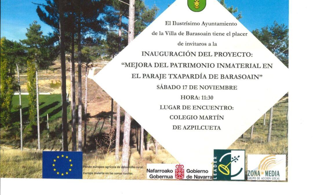 Inauguración proyecto «Mejora del Patrimonio Inmaterial en el paraje Txapardia»