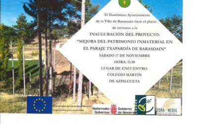 """Inauguración proyecto """"Mejora del Patrimonio Inmaterial en el paraje Txapardia"""""""