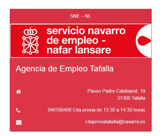 Nueva atención con Cita Previa en Agencia de empleo en Tafalla SNE-NL