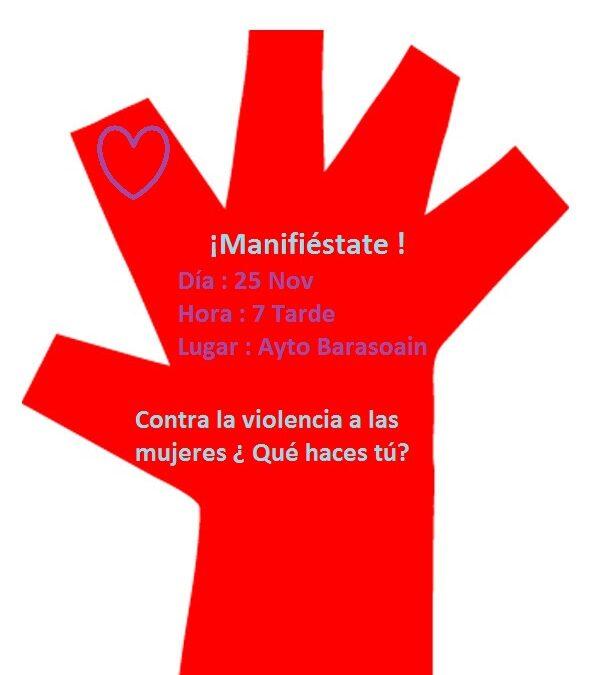 25 Nov – Concentración contra la violencia hacia las mujeres