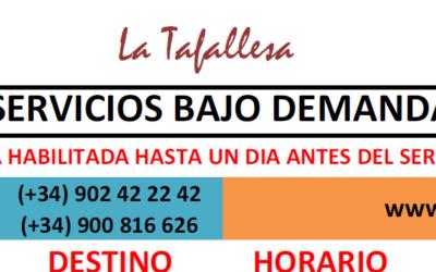 Nuevo servicio de adquisición ANTICIPADA de billetes autobús ALSA-CONDA-LA TAFALLESA